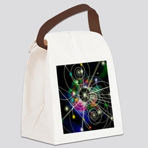 Art of particle tracks Canvas Lunch Bag