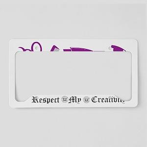 Hair Stylist Tools Purple License Plate Holder