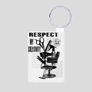Hair Styling Tools Respect Aluminum Photo Keychain