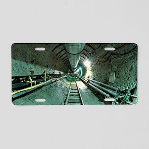 Access tunnel Aluminum License Plate