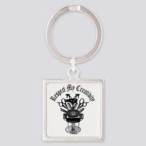 My Throne Hair style chair Square Keychain
