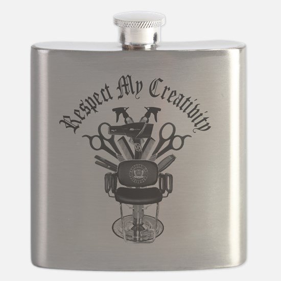 My Throne Hair style chair Flask