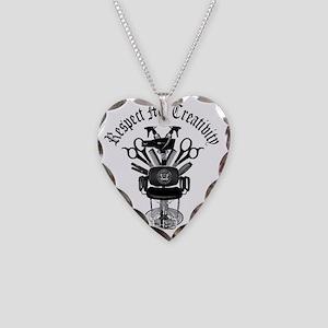 My Throne Hair style chair Necklace Heart Charm