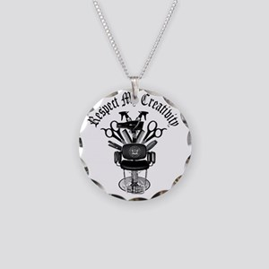 My Throne Hair style chair Necklace Circle Charm