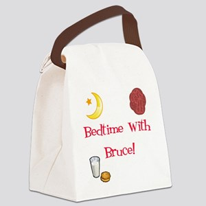Bedtime With Bruce Canvas Lunch Bag