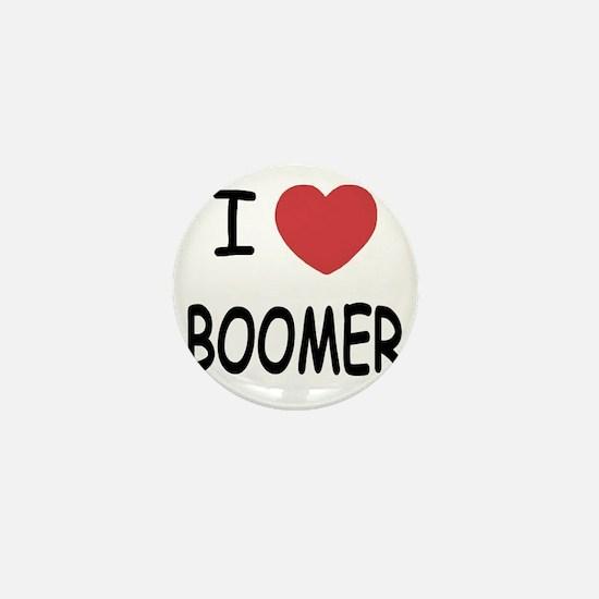 I heart BOOMER Mini Button