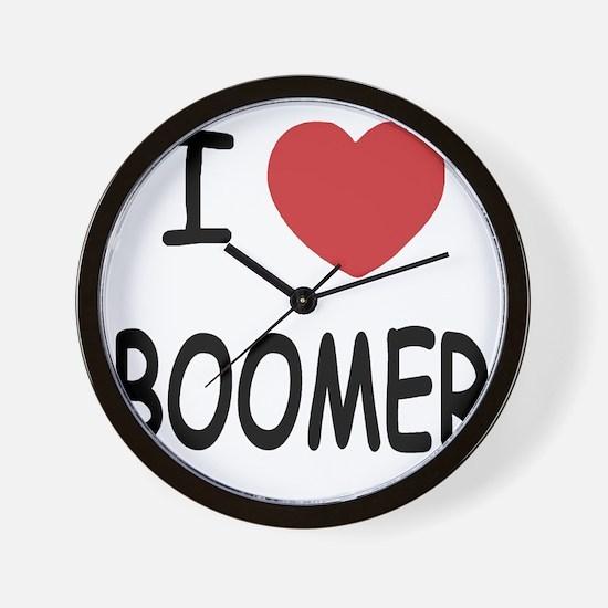 I heart BOOMER Wall Clock