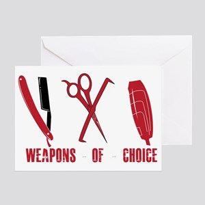 Barber shop greeting cards cafepress barber red tools of the trade dk shi greeting card m4hsunfo