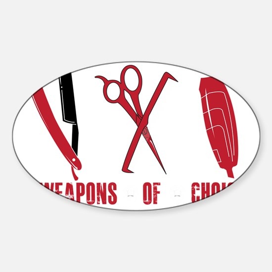 Barber Red Tools of the Trade Dk sh Sticker (Oval)