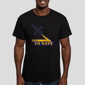 US NAVY Hornet F-18 Men's Fitted T-Shirt (dark)