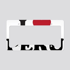 I Love Peru License Plate Holder