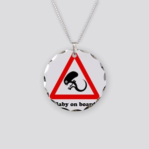 Baby On Board Necklace Circle Charm