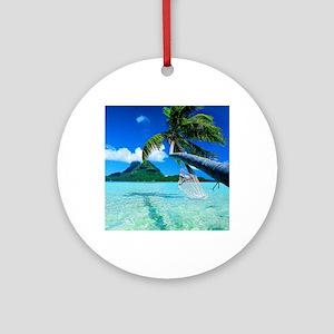 Beach Round Ornament