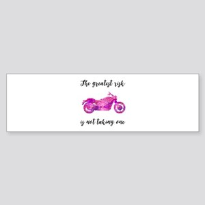 Greatest Risk Script Pink-Red Bumper Sticker