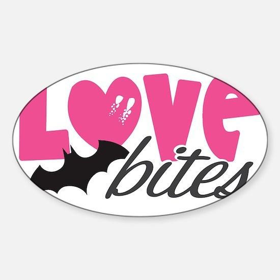 Love Bites Sticker (Oval)