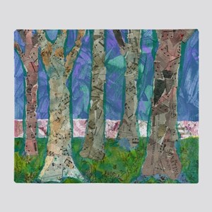 Music Amongst the Trees Throw Blanket