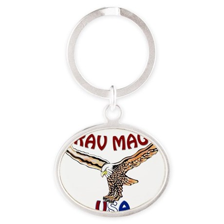 Krav Maga USA Eagle Oval Keychain