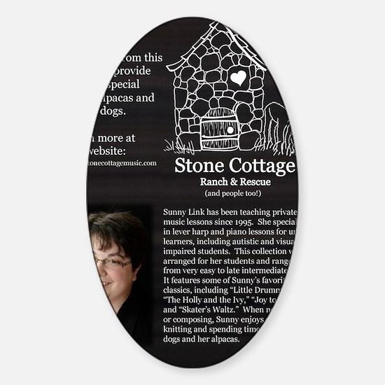 Back - Harp for Christmas Sticker (Oval)