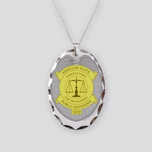 MSPD Badge Necklace Oval Charm
