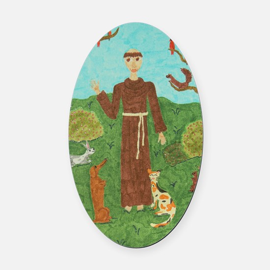 Saint Francis of Assisi Balloon Oval Car Magnet
