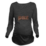 Copper Spanish Peace Long Sleeve Maternity T-Shirt