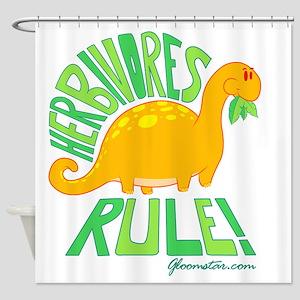GSHerbivoreSmall Shower Curtain