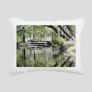 Serenity Prayer over the Rectangular Canvas Pillow