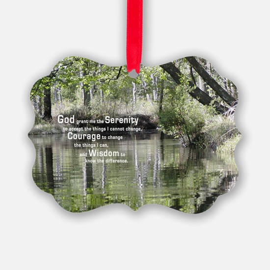 Serenity Prayer over the Wading R Ornament