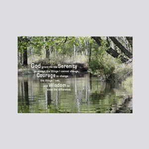 Serenity Prayer over the Wading R Rectangle Magnet