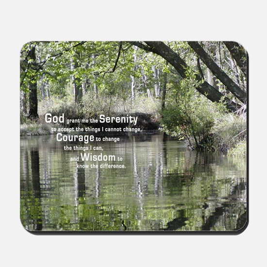 Serenity Prayer over the Wading River Mousepad