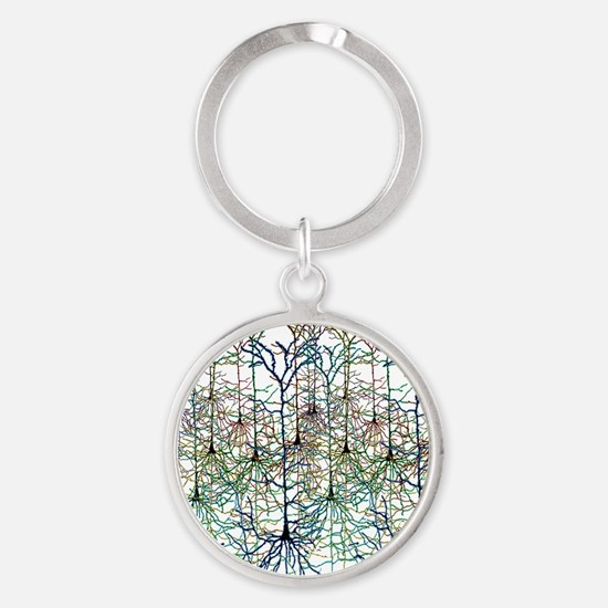 More Neurons Round Keychain
