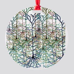 More Neurons Round Ornament
