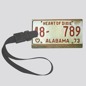 Heart of Dixie Alabama Car Tag S Large Luggage Tag