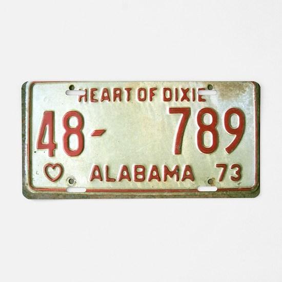Heart of Dixie Alabama Car  Aluminum License Plate