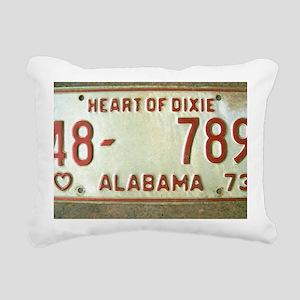 Heart of Dixie Alabama C Rectangular Canvas Pillow