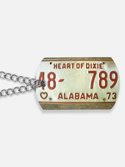 Heart of Dixie Alabama Car Tag Shoulder B Dog Tags