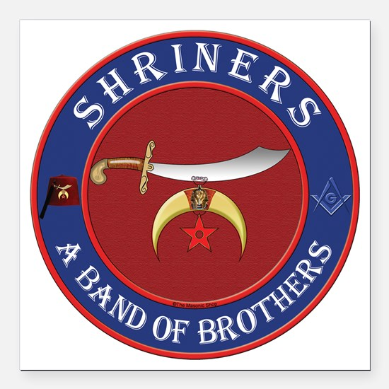 """SRHINERS - A Band of Bro Square Car Magnet 3"""" x 3"""""""