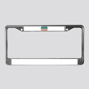 Faded Old Glory Grunge America License Plate Frame