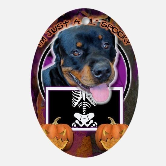 Halloween - Just a Lil Spooky - Rott Oval Ornament