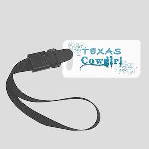 Texas Cowgirl (Blue) Small Luggage Tag