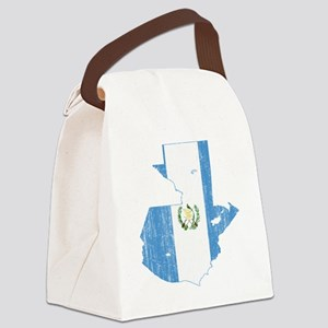 Guaemala Flag and Map Aged Canvas Lunch Bag