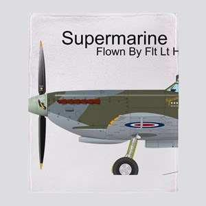 Supermarine Spitfire EN398 Throw Blanket