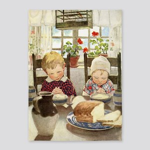 A Childs Book-saying grace 5'x7'Area Rug