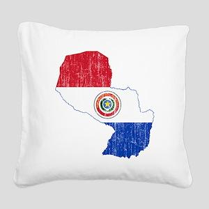 Paraguay Square Canvas Pillow