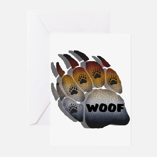 BEAR PRIDE PAW/MOSAIC/SHADOW Greeting Cards (Packa