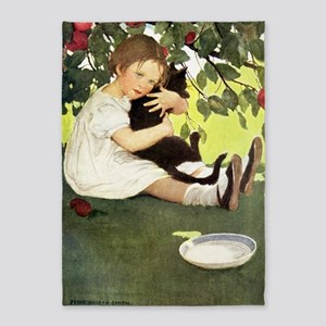 A Childs Book-I love my kitty 5'x7'Area Rug