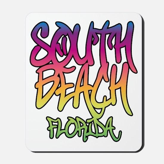 South Beach Graffiti B Mousepad