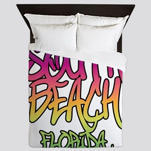 South Beach Graffiti B Queen Duvet