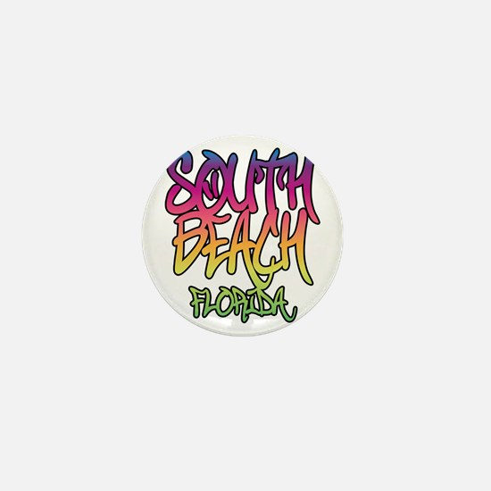 South Beach Graffiti B Mini Button