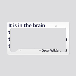 In the brain License Plate Holder